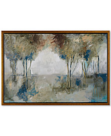 Madison Park Muted Trees At Dusk Framed Gel-Coated Canvas Print