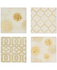 Madison Park Gilded Grandeur 4-Pc. Foil-Embellished Canvas Print Set