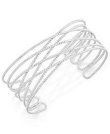 INC Gold-Tone Crisscross Cuff Bracelet, Created for Macy's