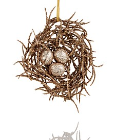 Holiday Lane Spotted Owl Egg Nest Ornament Created For Macy's