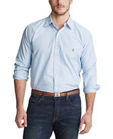 Polo Ralph Lauren Men's Big and Tall Classic Fit Long-Sleeve Oxford Shirt