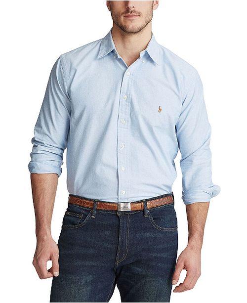 3c5e1a6e ... Polo Ralph Lauren Men's Big and Tall Classic Fit Long-Sleeve Oxford  Shirt ...