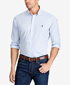 Polo Ralph Lauren Men's Big & Tall Gingham Classic-Fit Poplin Shirt
