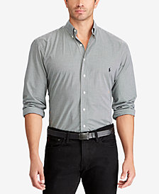 Polo Ralph Lauren Men's Big & Tall Checked Classic Fit Poplin Shirt