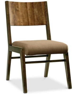 main image; main image ...  sc 1 st  Macyu0027s & Furniture Ashton Wood Back Side Chair - Furniture - Macyu0027s