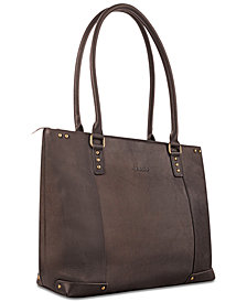 "Solo Jay 15.6"" Leather Tote"