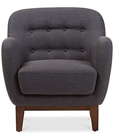 Sophia Button-Tufted Armchair, Quick Ship