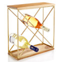 Martha Stewart Collection Gold Wine Rack