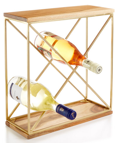 CLOSEOUT! Martha Stewart Collection Barware with a Twist Wine Rack, Created for Macy's