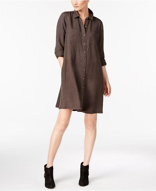 d46f392d0b9 Eileen Fisher Tencel® Blend Classic Collared Shirtdress   Reviews ...