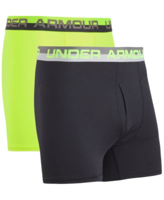"Under Armour Charged Cotton Stretch 6"" Boxerjock Underwear 3-Pack 1277279 038"