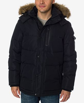 Nautica Men's Quilted Hooded Parka - Coats & Jackets - Men - Macy's