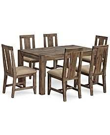 "Canyon Small  7-Pc. Dining Set, (60"" Dining Table & 6 Side Chairs), Created for Macy's"