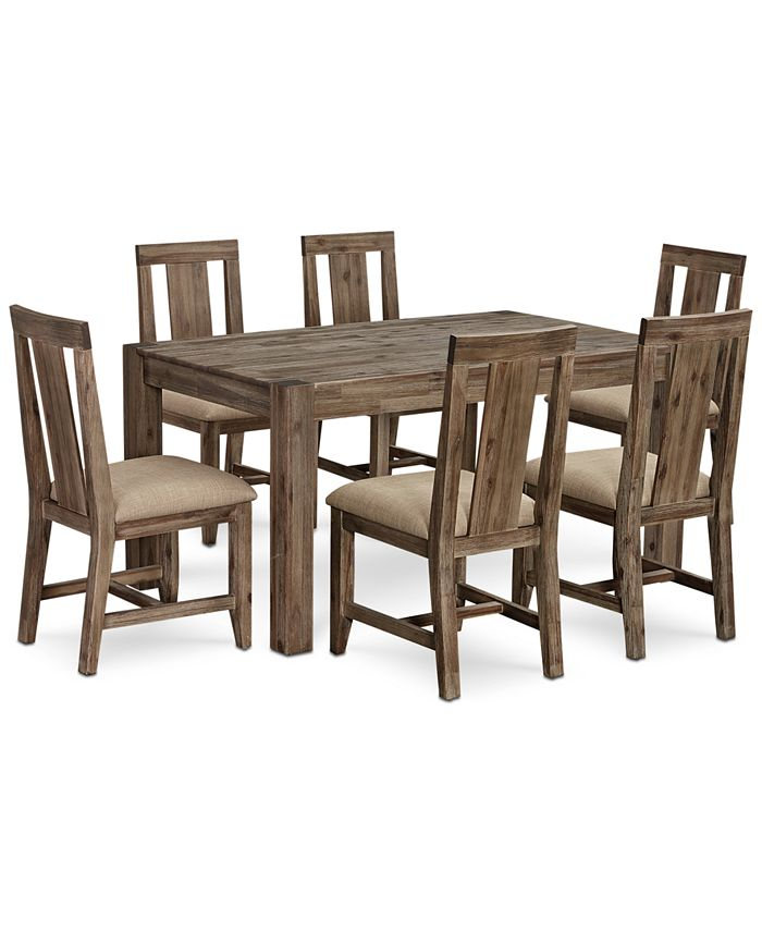 Furniture - Canyon Small Dining Set, 7-Pc. Set (Dining Table & 6 Side Chairs), Only at Macy's