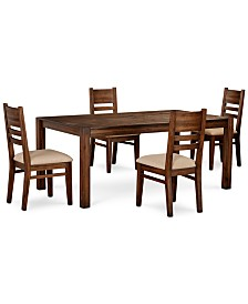 """Avondale Large Dining, 5-Pc. Set (72"""" Dining Table & 4 Side Chairs), Created for Macy's"""