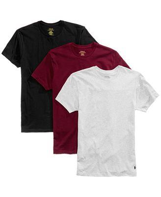 Polo Ralph Lauren Men S 3 Pack Cotton Crew T Shirts Underwear
