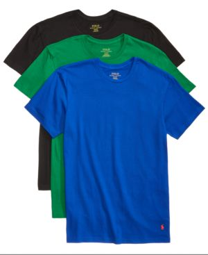 Polo Ralph Lauren Men S 3 Pack Cotton Crew T Shirts In English