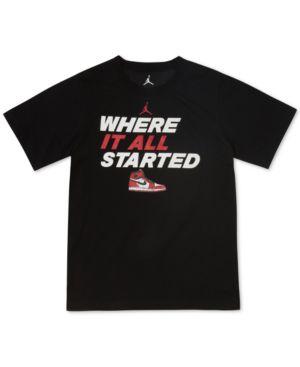 JORDAN | Jordan Graphic-Print T-Shirt, Big Boys (8-20) | Goxip