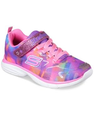 Skechers Little Girls Spirit Sprintz  Rainbow Raz Athletic Sneakers from Finish Line