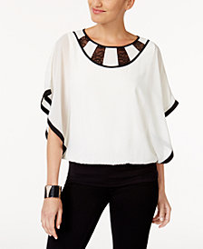 Thalia Sodi Lace Colorblocked Top, Created for Macy's
