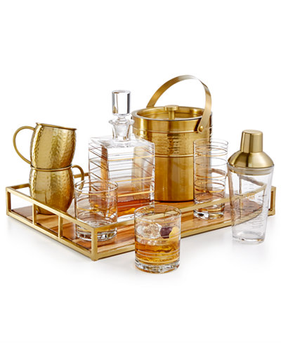 CLOSEOUT! Martha Stewart Collection Barware with a Twist Collection, Created for Macy's