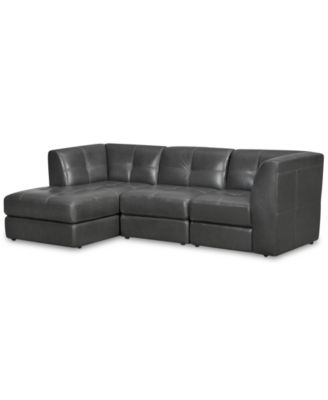 CLOSEOUT! Fabrina 3-Pc. Leather Modular with Chaise, Created for Macy's