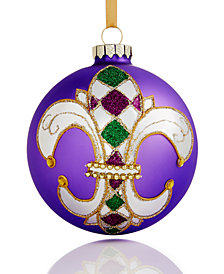 Holiday Lane Glass 2018 Mardi Gras Ball Ornament, Created for Macy's
