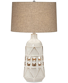 Pacific Coast Kiowa Ceramic Tribal Table Lamp