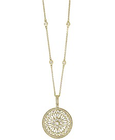 "EFFY® Diamond Filigree Pendant 18"" Necklace (1 ct. t.w.) in 14k Gold, White Gold or Rose Gold"