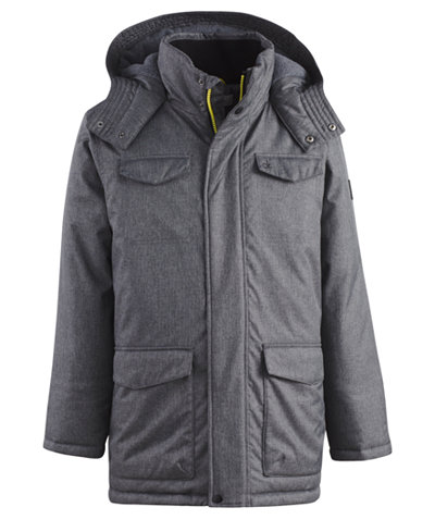 Calvin Klein Hooded Military Jacket, Big Boys (8-20) - Coats ...