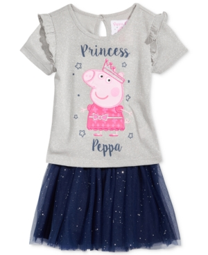 Nickelodeons Peppa Pig 2Pc TShirt  Skirt Set Little Girls (46X)