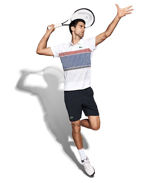 0dc680756a658 Lacoste Collection for Novak Djokovic Men s UltraDry Performance Polo
