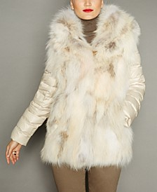 Convertible Coyote Fur Jacket