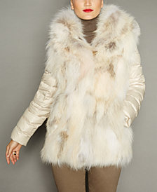 The Fur Vault Convertible Coyote Fur Jacket