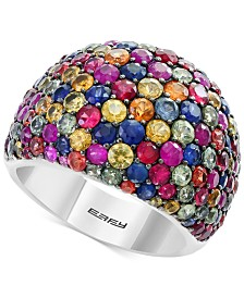 Splash by EFFY® Multicolor Sapphire Statement Ring (6-1/6 ct. t.w.) in Sterling Silver