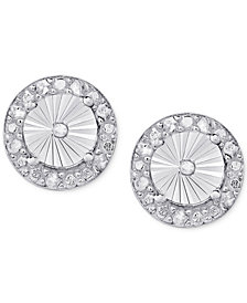 Diamond Illusion-Set Halo Stud Earrings (1/4 ct. t.w.) in Sterling Silver