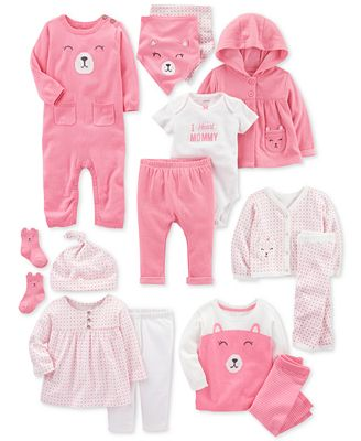 Carter's Bandana Bibs & Clothing Sets, Baby Girls