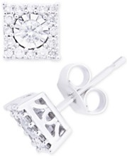 72e2d24df Diamond Cluster Stud Earrings (1/3 ct. t.w.) in 14k White Gold