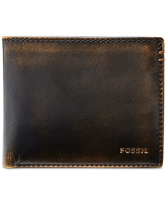 fossil mens wade bifold leather wallet all accessories