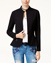 XOXO Juniors' Quilted Peplum Jacket