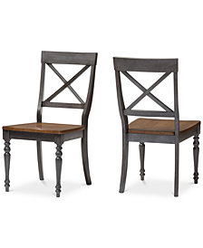 Rosalind X-Back Dining Side Chair (Set Of 2), Quick Ship