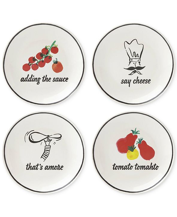 Kate Spade new york Anyway You Slice It 4-Pc. Plate Set