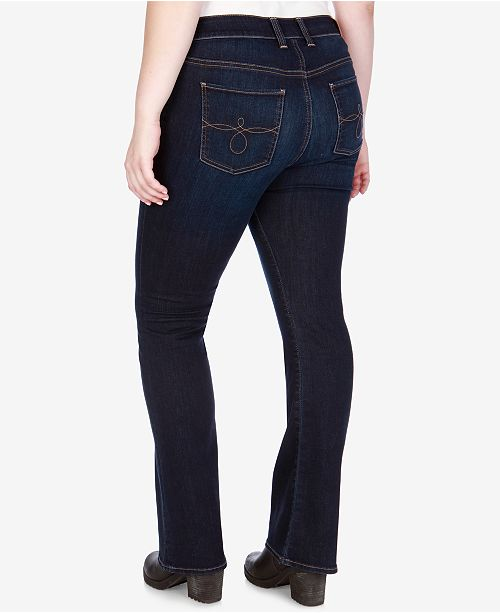 5cc4bfabad3 ... Lucky Brand Trendy Plus Size   Petite Plus Ginger Bootcut Jeans ...