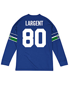Mitchell & Ness Men's Steve Largent Seattle Seahawks Retro Player Name & Numer Longsleeve T-Shirt
