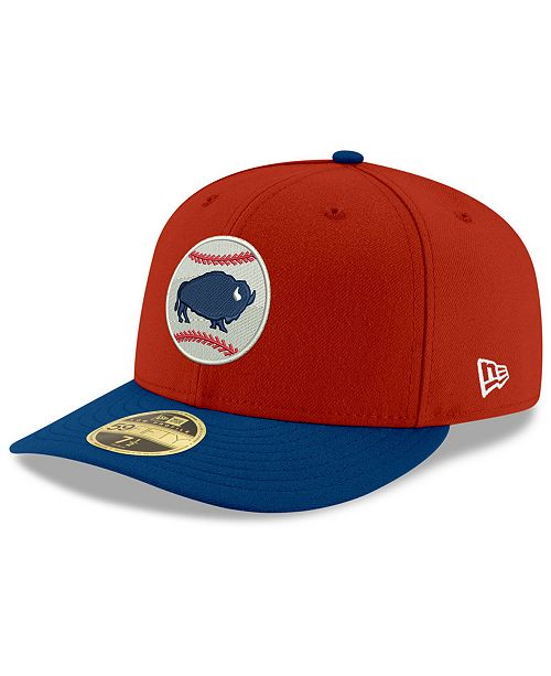 New Era Buffalo Bisons Low Profile AC 59FIFTY Fitted Cap - Sports ... e0d0a60ca70