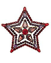 Anna Sui x INC International Concepts Gold-Tone Crystal & Stone Star Pin, Created for Macy's