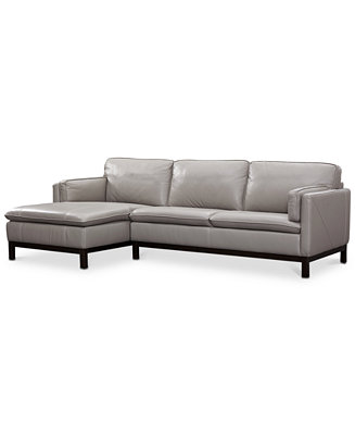 Amazing Shoptagr Closeout Ventroso 2 Pc Leather Chaise Sectional Gmtry Best Dining Table And Chair Ideas Images Gmtryco