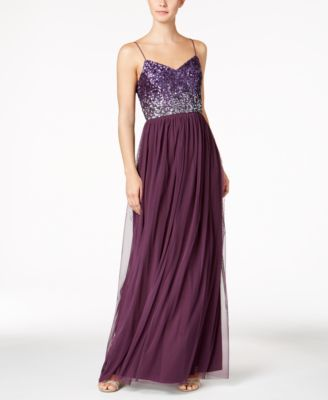 Sequined Tulle Gown