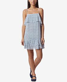 Avec Les Filles Constellation-Print Slip Shift Dress