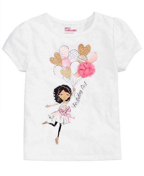 96a6c579 Epic Threads Mix and Match Birthday Graphic-Print T-Shirt, Toddler Girls,